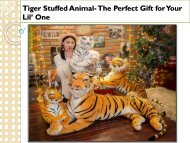 Tiger Stuffed Animal- The Perfect Gift for Your Lil' One