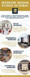 Luxury Personalized Interior Design Studio Dubai - Exotic Interiors.
