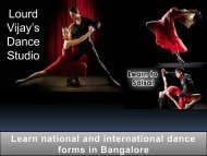 Dance school in Bangalore - Learn national and international dance forms