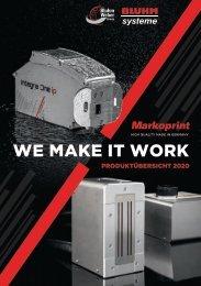 Markoprint Produktübersicht 2020