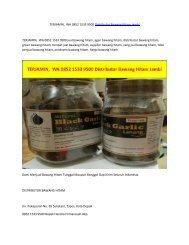 TERJAMIN,  WA 0852 1533 9500 Distributor Bawang Hitam Jambi