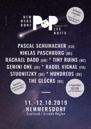 Hemmersdorf Pop präsentiert Les Nuits - Programmheft