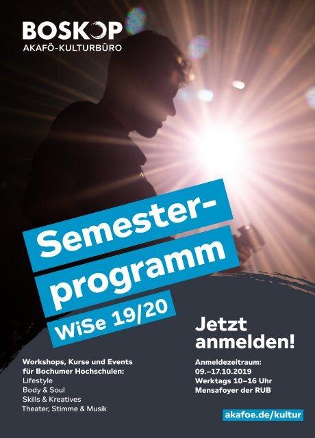 BOSKOP Semesterprogramm Winter 2019/20