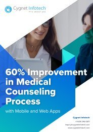 60% Improvement in Medical Counseling Process with Mobile and Web Apps