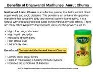 Benefits of Dhanwantri Madhuneel Amrut Churna