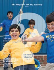 The Magazine of Cary Academy |  Fall 2018