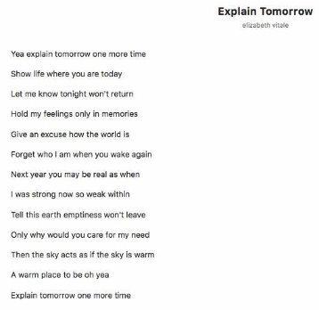 Explain Tomorrow