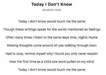Today I Don't Know