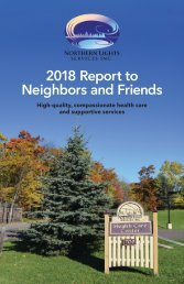 Northern Lights Services — 2018 Report to the Community