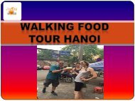 Walking food tour hanoi
