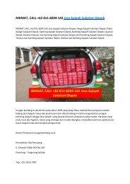 NIKMAT, CALL +62 811-8204-142 Jasa Aqiqah Sukatani Depok