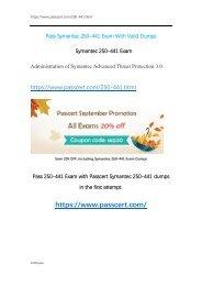 Symantec 250-441 Exam Dumps