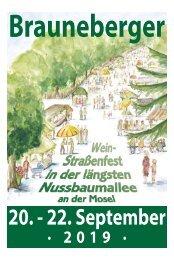 Brauneberger Weinstraßenfest 20.-22. September 2019