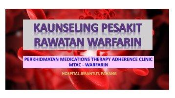KAUNSELING PESAKIT warfarin