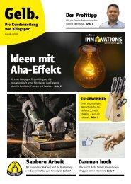 Gelb. Die Kundenzeitung von Klingspor - Ausgabe 2|2019