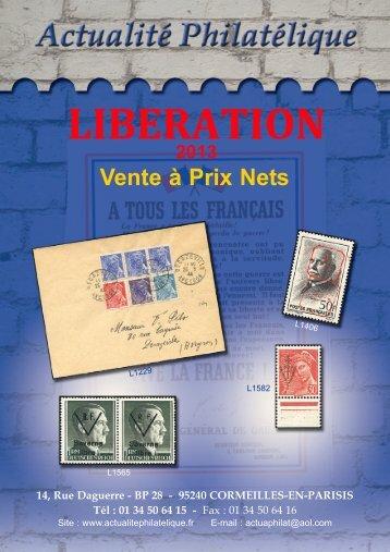 Catalogue côtes et Prix Timbres Liberation - Pierre MAYER