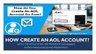 How Create An AOL Account