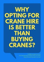 Why Opting For Crane Hire Is Better Than Buying Cranes?