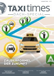 Taxi Times DACH SPECIAL- August 2019