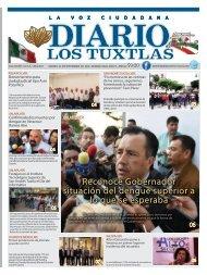 Edición de Diario Los Tuxtlas del día 20 de Septiembre de 2019