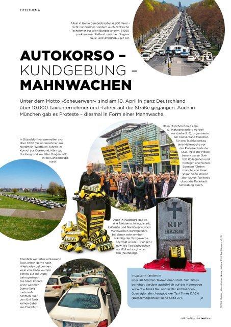 Taxi Times München - März / April 2019