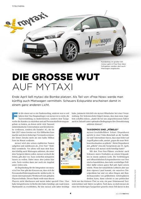 Taxi Times München - Juli 2019