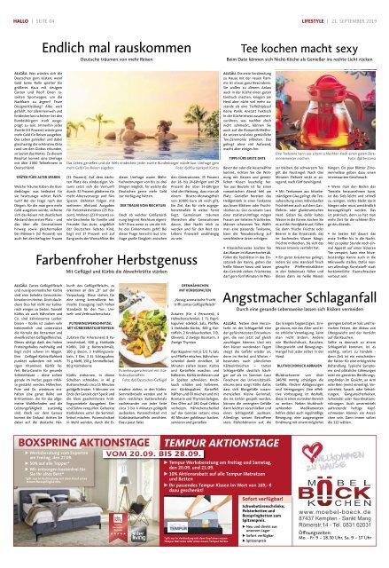 Hallo-Allgäu Kempten, Oberallgäu, Westallgäu vom Samstag, 21.September