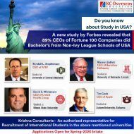 Want to pursue your Bachelor's or Master's in USA