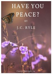 Have You Peace?