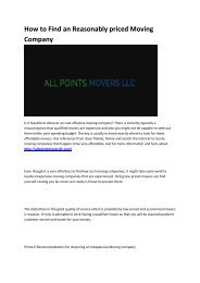 4 Best Affordable Movers in Western MA - All Point Movers LLC