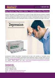 Buy Esipram 5mg Tablets Online-Complete Online Pharmacy