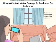 How to Contact Water Damage Professionals for Assistance