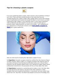 Tips for choosing a plastic surgeon