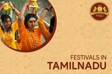 Festivals in Tamil Nadu | Tamil Nadu Festivals | Chidambara Vilas