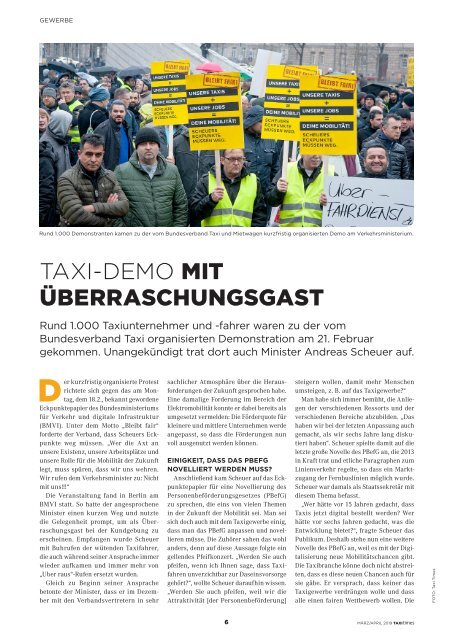 Taxi Times Berlin - März / April 2019