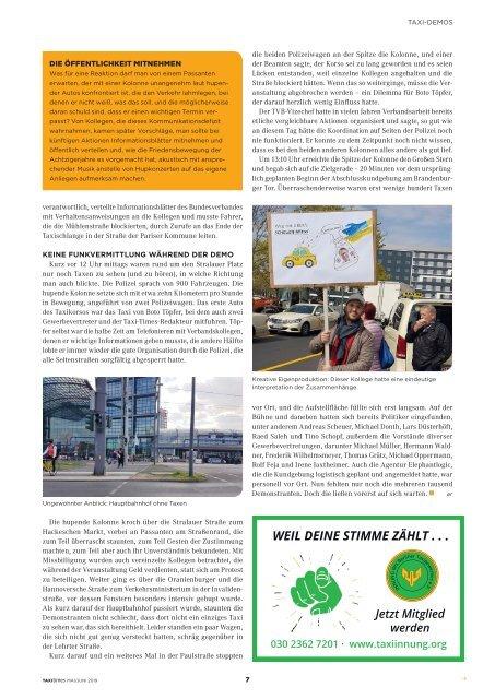 Taxi Times Berlin - Mai / Juni 2019