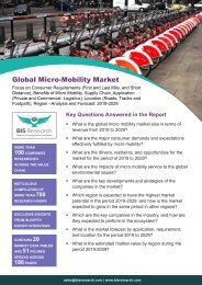 Micro Mobility Market Growth, 2019-2029