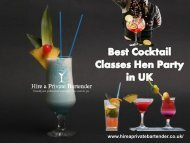 best Cocktail Classes Hen Party in UK