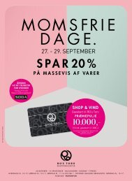 MOMSFRIE DAGE 27.-29. september