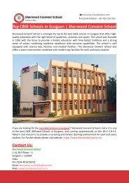 Top CBSE Schools In Gurgaon-Sherwood Convent School