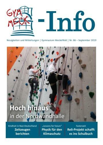 GymMeck-Info Nr. 86 - September 2019