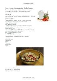 Kochbuch Rezept Aschura oder Noahs Suppe