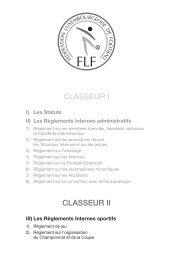 FLF Statuts et Reglements - classeur 2