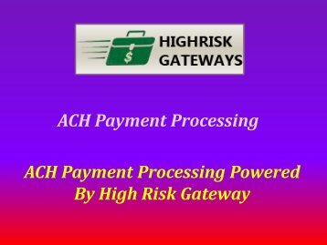 ACH Payment Processing