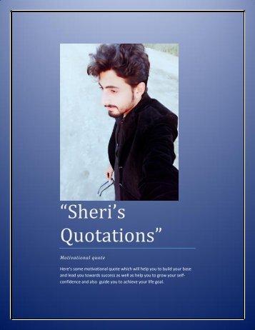 Sheri's quotations