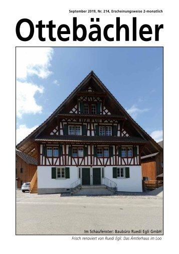 Ottebächler 214 September 2019