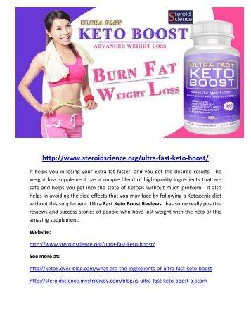 ultra fast keto boost pdf