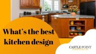 What's the best kitchen design