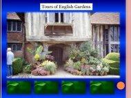 Tours of English Gardens