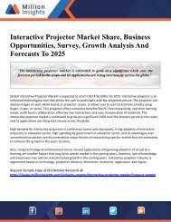Interactive Projector Market Share, Business Opportunities, Survey, Growth Analysis And Forecasts To 2025